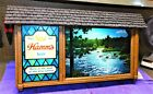 1960s HAMM'S BEER Scenorama MOTION Campfire SIGN (GORGEOUS!!!) Stored For Years