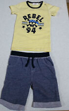 Ka-boosh Boys Rebel Yellow T'Shirt and Grey Short Set - Size 000 - Bnwt