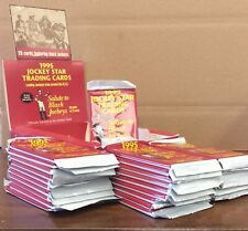 """1995 Horse Star Cards """"Salute to Black Jockeys"""" 29 SEALED Packs with Display Box"""