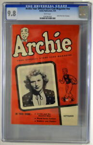 ARCHIE Your Official Store Club Magazine #nn 9/49 CGC 9.8 1949 Archie cover RARE