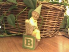 Cairn Studio Tom Clark Gnome ~ ALPHABET ~ B ~ Bells! Block Bow Brazil Father Day