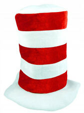 Adult Striped Red & White Hat Fancy Dress World Book Day Character Dr Suess New