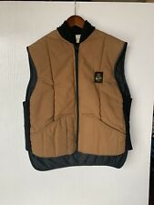 Refrigiwear Men's Vintage Puffer Vest Size L Dog Patch Made In USA