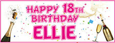 2 PERSONALISED BIRTHDAY BANNERS - 18th 21st 30th 40th 50th 60th 70th