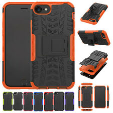 For iPhone SE 2020 Shockproof Hybrid Armor Rubber Bumper Stand Hard Case Cover