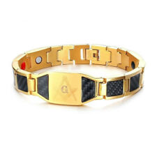 "Mason Bio Energy Bracelets for Men Carbon Fiber Magnetic Healthy Jewelry 8.26"""