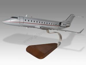 Bombardier Challenger 850 VistaJet Solid Mahogany Wood Handmade Desktop Model