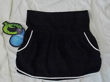NWT ~ Womens Quagmire Golf Fold Over Waist Black Tennis Skort, size 6, New!