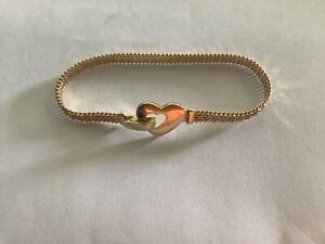 Imperial Gold 14kt Wheat Heart Buckle Bracelet 13.6g