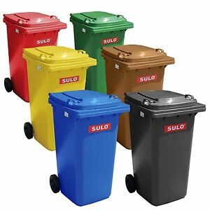 Sulo Mülltonne 80 Liter blau gelb braun blau grau rot Abfalltonne Mülltrennung