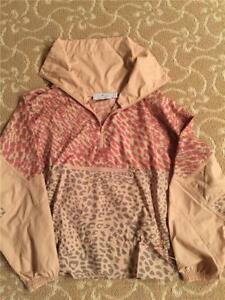 Adidas Stella McCartney Women Essential Starter Windbreaker Rose Tan Jacket  XS