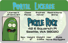 The Rick and Morty show PICKLE RICK SANCHEZ fun fake ID card Drivers License