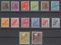 Germany BERLIN-RED-1948-COMPLETE-SET MNH SIGNED