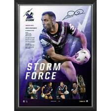 Cameron Smith Melbourne Storm 400 Game Official NRL Print Framed - Storm Force