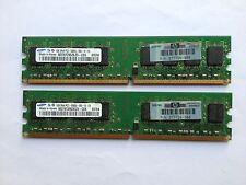 2GB SAMSUNG RAM DDR2667MHz 2Rby8 MATCHING SET (2by1GB) DESKTOP HP P/N 377726-888