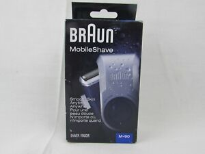 Braun M-90 Mobile Washable Shave Electric Portable Travel Shaver For Men New