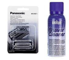 Panasonic WES 9027y Pellicola Scher + lama es-lf71 es-lf51 + Marrone SPRAY di pulizia