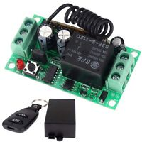 New DC12V 10A Relay 1CH Wireless Remote Control Switch Transmitter + Receiver LN