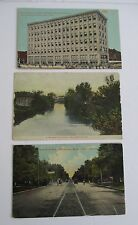 Lot of 3 Hutchinson KS Postcards 1907-1915
