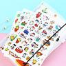 New 6 sheet Cartoon cat expressio transparent stationery album diary stickers