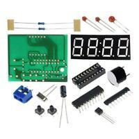 1 set 4 Bits LED Digital Elektronische Uhr C2051 DIYKit Clock D4A2 M2Z9