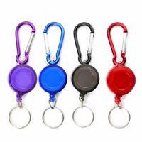 1X(Lot 1 Porte Badge Enrouleur Porte cle retractable mousqueton clip ceinture