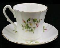Royal Castle Staffordshire Tea Cup and Saucer Fine Bone China England