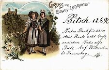 CPA  Gruss aus Elsass-Lothringen - Litho - Folklore - Types  (481427)