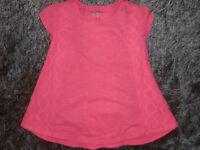 ARIZONA Girls Size S (7/8) Short Sleeve Top Color Neon Orange