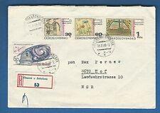 TSCHECHOSLOWAKEI  (705 73) R-BRIEF EINSCHREIBEN VIERSOVA SOKOLOVA  NACH HOF 1968