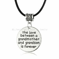 The Love Between A Grandmother and Grandson Is Forever Pendant Necklace Gift New