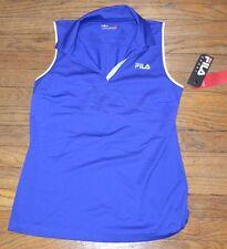 Fila Sport Performance Fitted Golf Sleeveless Shirt Wicking Blue Size Medium