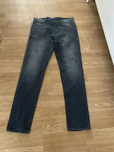 BNWT TRUSSARDI 370 Size W 35/ L 44 Men's Grey MJeans-RRP £105