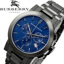 Burberry Men's Swiss Chronograph Gray Ion-Plated Stainless Steel Bracelet Wat...