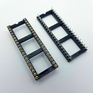 Round 40 pin DIP DIL IC Socket Wide 15.24mm Pitch Chip Holder Pins UK turned
