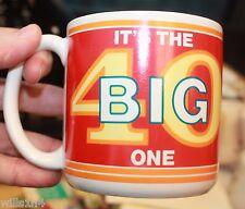 Coffee Mug Cup IT'S THE BIG ONE 4O YEARS OLD BIRTHDAY COMIC BIG SOUP  B2