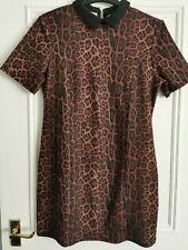 Ladies River Island Smart Casual Leopard Print Dress Size 14