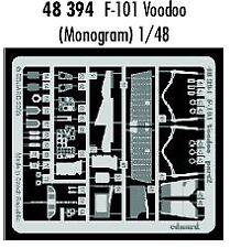 Eduard 1/48 F-101 Voodoo grabado para Revell y Monogram Kit # 48394 *
