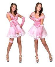 Kostüm Prinzessin rosa Gr. 3 2/34 aus Pannesamt und Tüll komplett mit Handschuhe