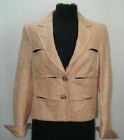 ESCADA Womens 38 Linen Wool 2 Button Suit Jacket Blazer