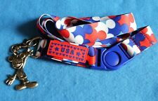 Disney Mickey Mouse pin badge Lanyard with Mickey Mouse Key ring charity