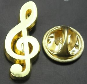 Musical Note G-clef Pin Badge Treble Clef Musician Brooch