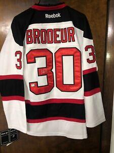 MARTIN BRODEUR Signed Autographed Reebok New Jersey Devils jersey HOF - GA COA