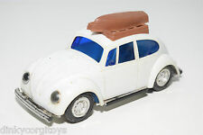 LUCKY PLASTIC 3129 VW VOLKSWAGEN BEETLE KAFER WITH BOAT WHITE EXCELLENT
