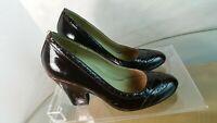Miz Mooz Shoes Heels Pumps Women's Size 38 7.5 -8  burgundy patent Leather