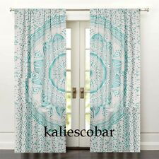 Mandala Bedroom Window Curtains Drape Balcony Room Decor Curtain Boho Set