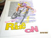 Vintage Ride On Bicycle Cycling Tee Shirt Iron-on Transfer 1993