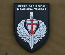 """PVC / Rubber Patch """"Recte Faciendo Neminem Timeas"""" with VELCRO® brand hook"""