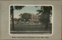 Dorchester Lower Mills MA Gilbert Stuart School c1910 Postcard