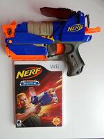 Nerf N-Strike Elite Game & Blaster Gun Complete! Nintendo Wii
